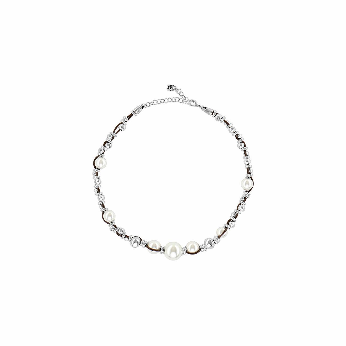 Unode50 Покрытое серебром ожерелье с подвесками и синтетическим жемчугом Flighty unode50 покрытое серебром короткое ожерелье с подвесками и синтетическим жемчугом moody