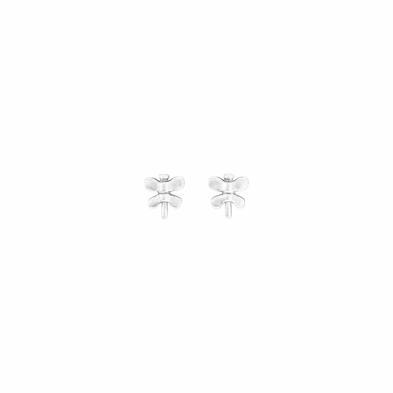 Unode50 Покрытые серебром пусеты-бабочки Just Be