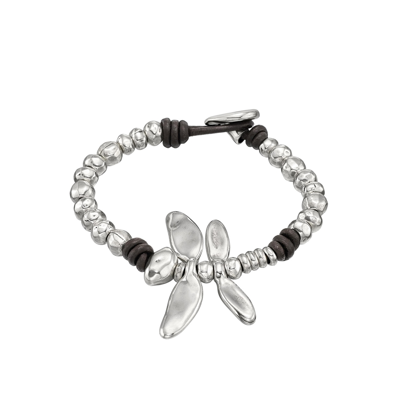 Unode50 Покрытый серебром браслет «Free dragonfly»