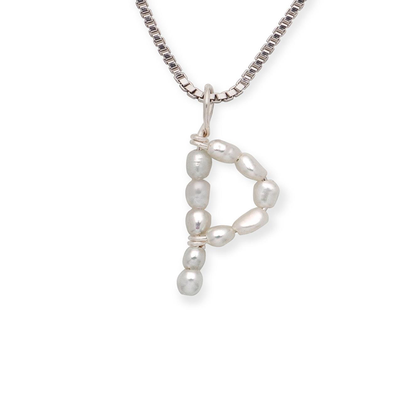 Фото - Ringstone Серебряное колье с жемчужной буквой P ringstone жемчужное ожерелье с буквой s ringstone