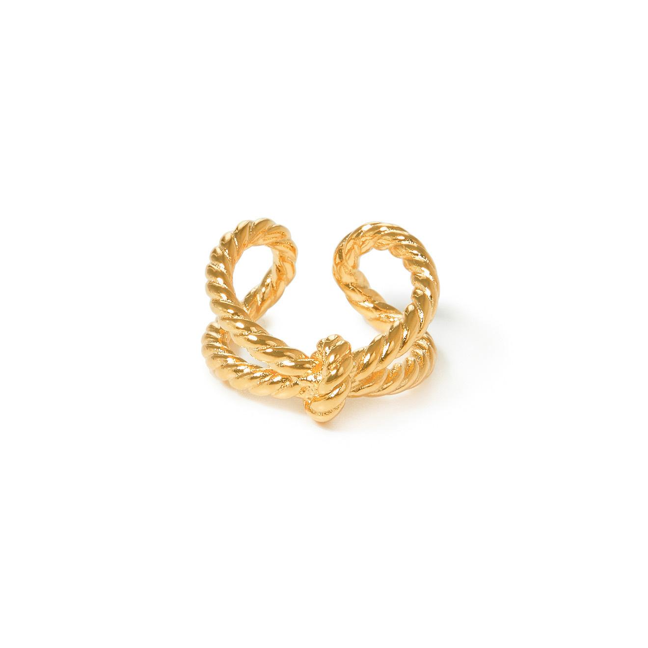 Lisa Smith Золотистое двойное кольцо