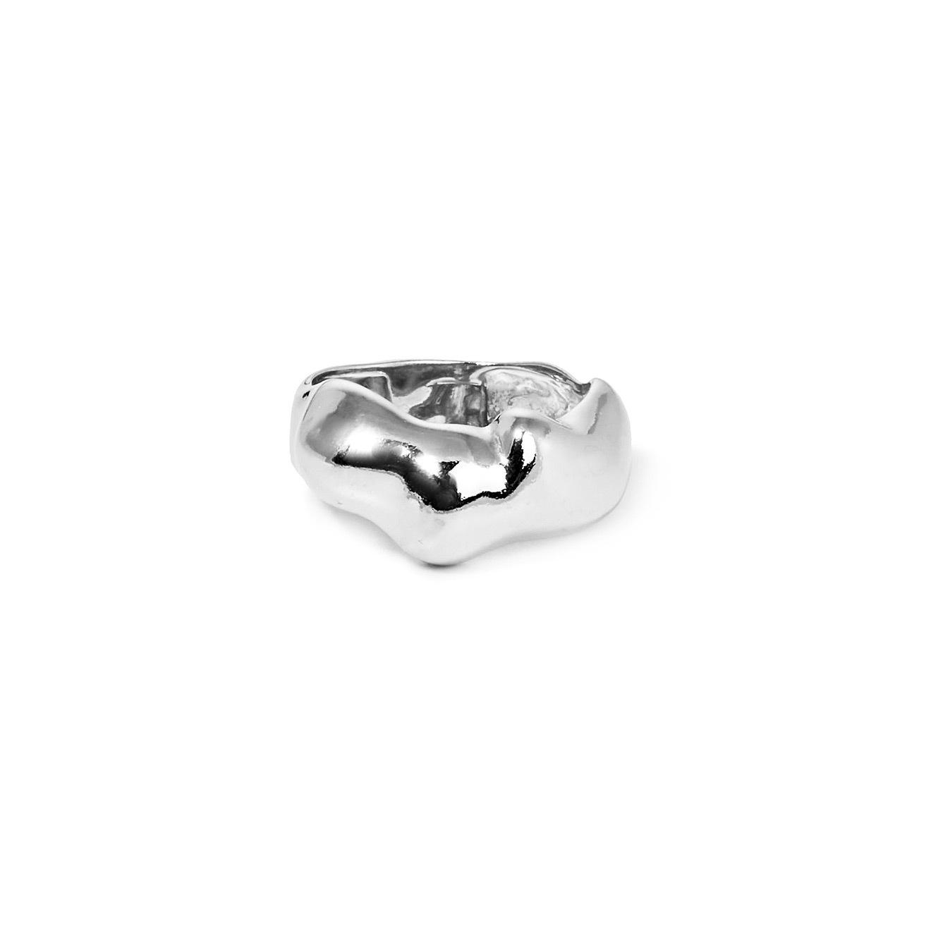 Mineral Weather Серебряное форменное кольцо mineral weather позолоченные пусеты круги